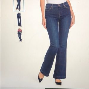 7 for all Mankind Dojo Contrast Wide Leg Jeans